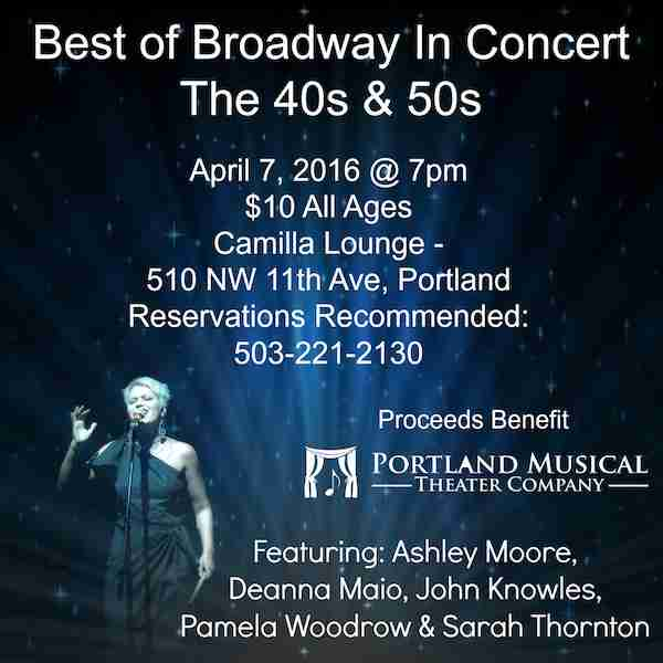 Best of Broadway in Concert The 40s & 50s